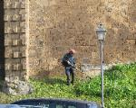 wall maintenance Tuscania Italy