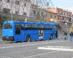 a COTRAL bus takes Tuscania teenagers to high school in a nearby town