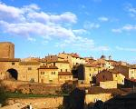 rooftops, Tuscania, central Italy